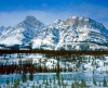 Canadian Rockies,Winter,Mount Wilson,Rockies
