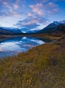 Green River Autumn Sunrise Reflection