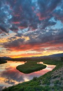 sunset,Green River,Browns Park, Colorado