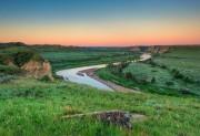 Theodore Roosevelt National Park, North Dakota,Little Missouri River,dawn,sunrise,National Park