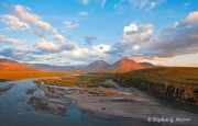Canning River, Brooks Range, Alaska, ANWR, morning light, Arctic National Wildlife Refuge