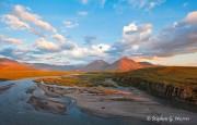 Canning River, Brooks Range, Alaska, ANWR, morning light, Arctic National Wildlife Refuge