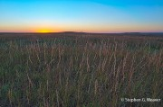 prairie, Kansas, Tall Grass Prairie Preserve, sunset