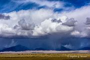 clouds, storm, Medano Ranch, Nature Conservancy, bison, Sangre de Cristo Mountains, Colorado, Great Sand Dunes NP