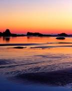 sunset,Ruby Beach,Olympic National Park,beach,sea stacks