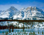 Canadian Rockies,Winter,Mount Wilson,Rockies