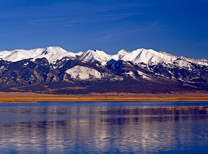 mountains,reflection, photo