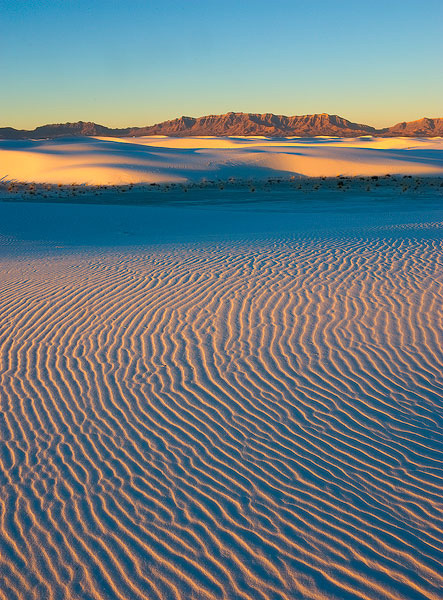 White Sands,ripple marks, New Mexico,sunrise, photo