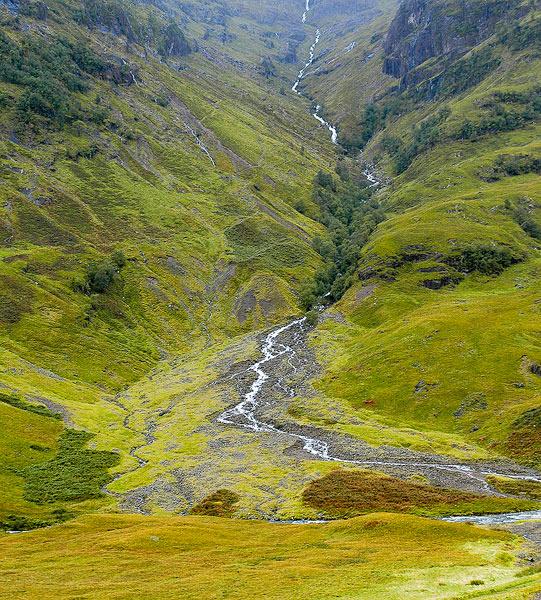 Scotland, Glen Coe, stream, green, Scottish Highlands                , photo