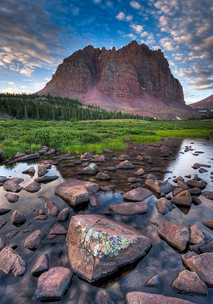 mountains, red castle peak, Uinta Mountains              	, photo