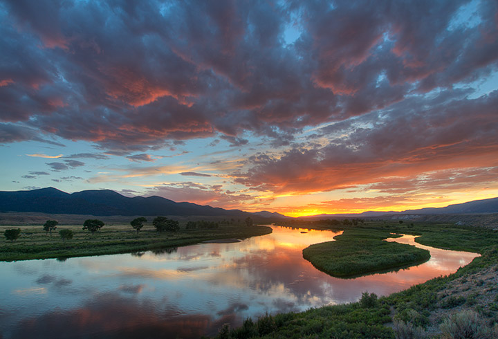 sunset,Green River,Browns Park, Colorado               , photo