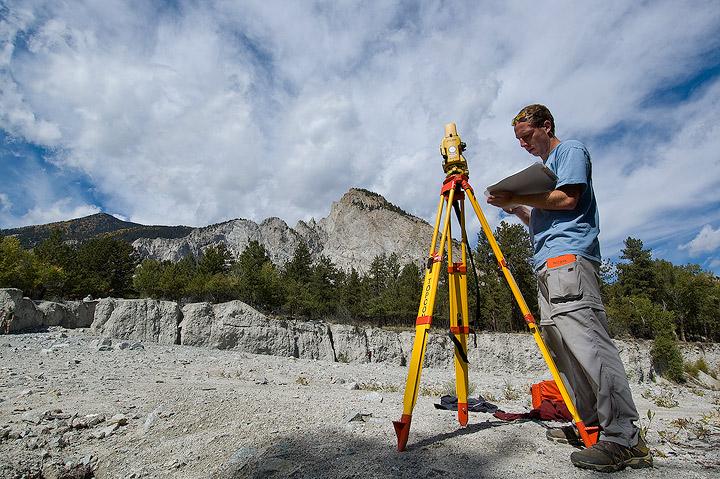 Colorado, Colorado College, students, debris flow, geology, Mt. Princeton                , photo
