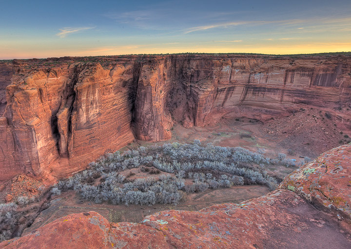 Canyon de Chelly, canyon, Winter