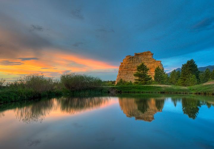 Monument Rock,reflection, photo
