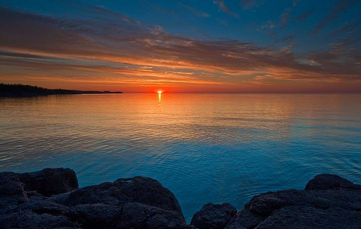 sunrise,Minnesota,Lake Superior,summer solstice,Gooseberry State Park,, photo