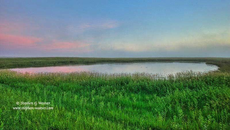 prairie, North Dakota,prairie pothole country,dawn,grass,National Wildlife Refuge,NWR, photo