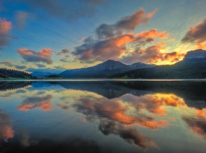 Brooks Lake,sunrise,Wyoming, photo