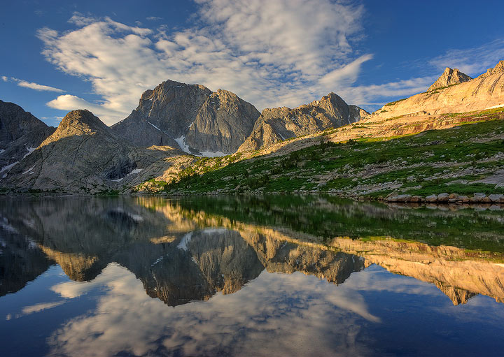 Wind River mountains,Wyoming,reflection,alpine,mountains,Deep Lake,, photo