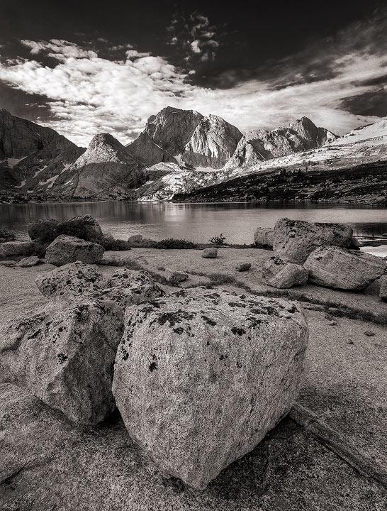 Wind River Range,mountains,alpine,rock,B&W,Wyoming,granite           , photo