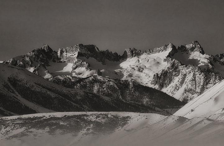 mountains,snow,Winter,Sawtooth Ridge,Yosemite National Park,California         , photo
