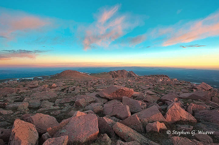 Pikes Peak, mountains, Colorado, sunrise, photo