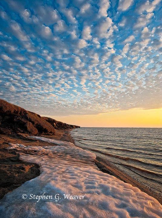 2:00Am light near Brownlow Point where the coastal Plain meets the Beaufort Sea , Arctic National Wildlife Refuge...