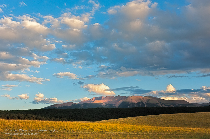 Pikes Peak as seen from highway 24 near Divide