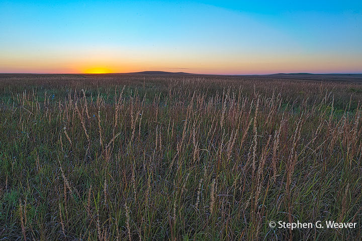 prairie, Kansas, Tall Grass Prairie Preserve, sunset, photo