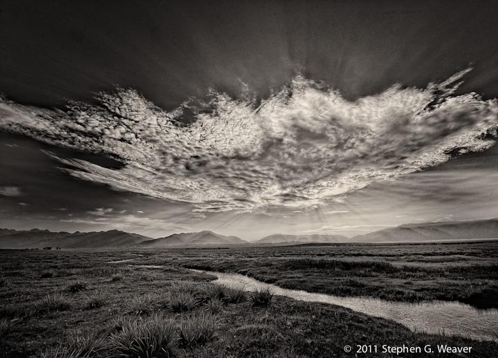 clouds, Medano Ranch, San Luis Valley, Colorado, photo