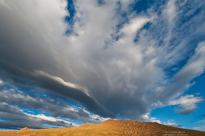 Pikes Peak, clouds, photo