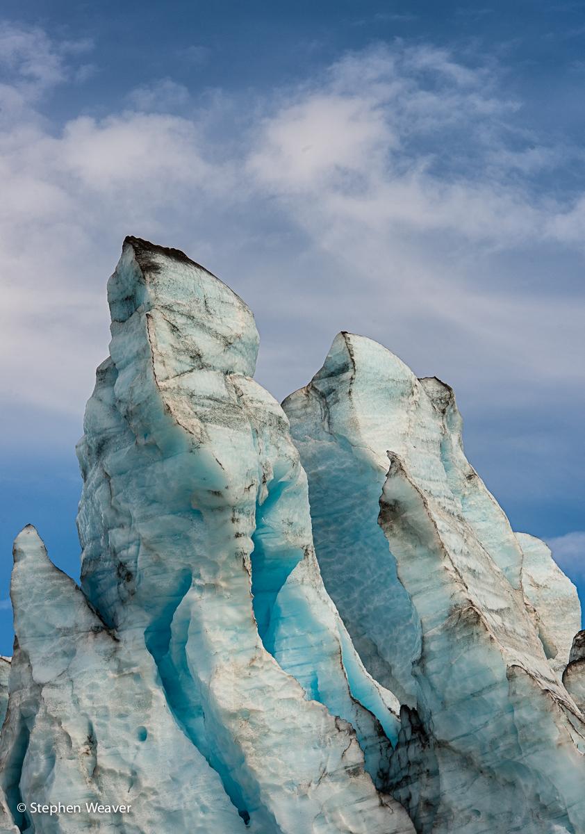 Alaska,Glacier Bay NP,Lampugh Glacier, seracs, photo