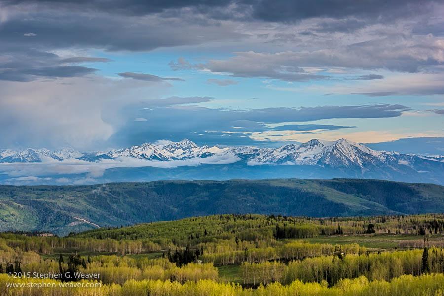 Colorado,Deep Creek plateau,Spring,White River Plateau, aspen, , photo