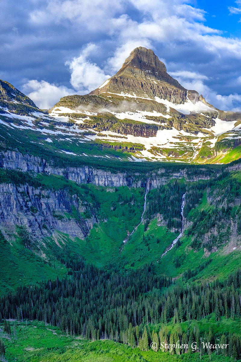 Reynolds Mountain as seen from Going to the Sun Highway, Glacier National Park