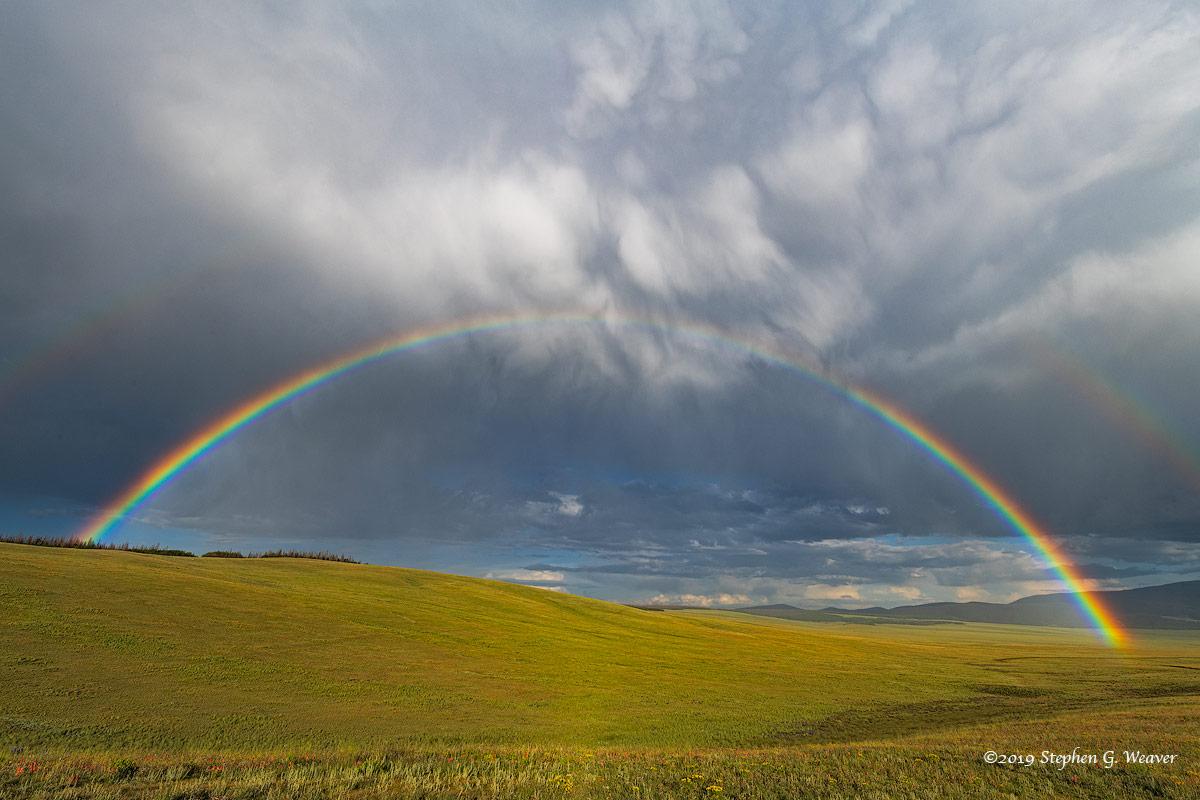Colorado, rainbow, Summer, storm
