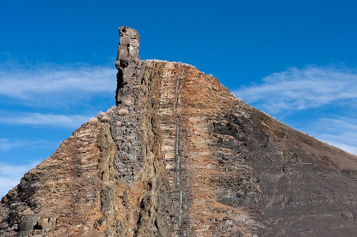 contact metamorphism, igneous dike, Raton volcanic field                , photo