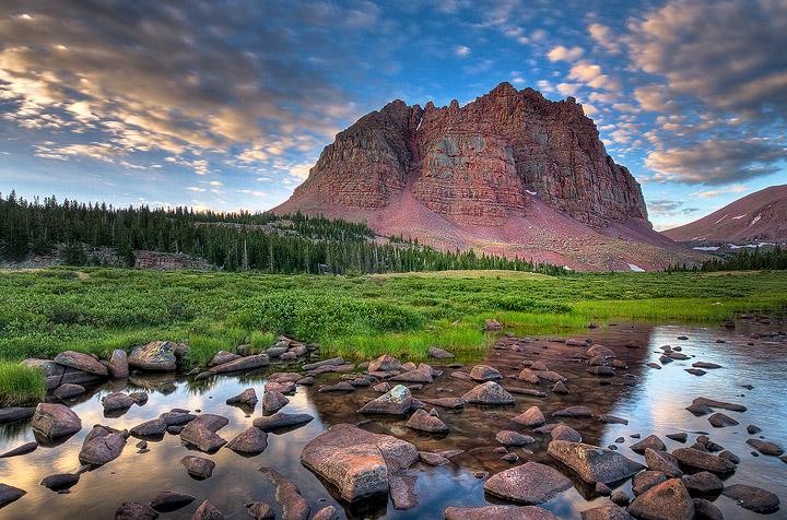 Uinta Mountains,Utah,mountains,Red Castle,talus           , photo