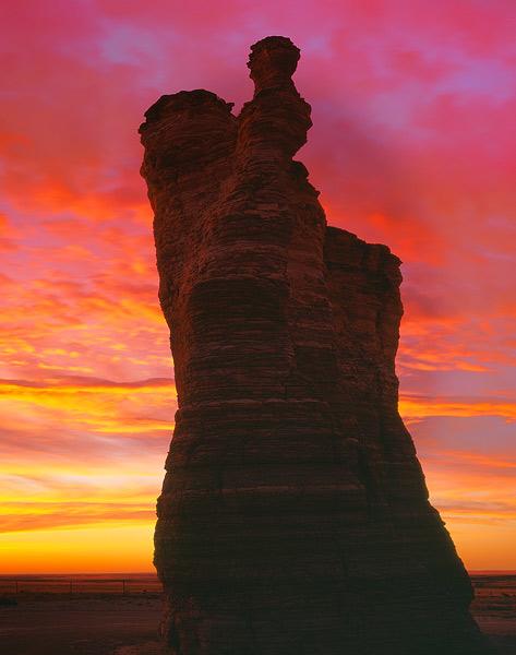 Monument Rocks,sunrise              , photo