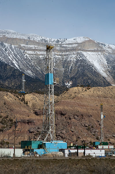 natural gas, drill rig, Roan Plateau, Piceance Creek Basin, Colorado, oil, gas, exploration