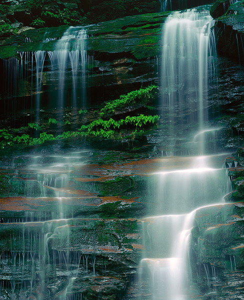 Ricketts Glen State Park, waterfall, Pennsylvania,Ganoga Falls