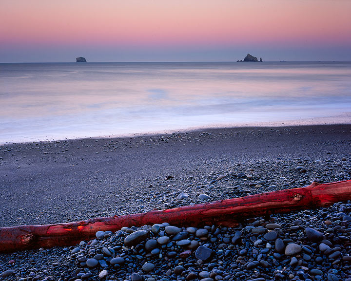 Olympic National Park,dawn,earth shadow,sunrise,Rialto Beach,4x5,Washington