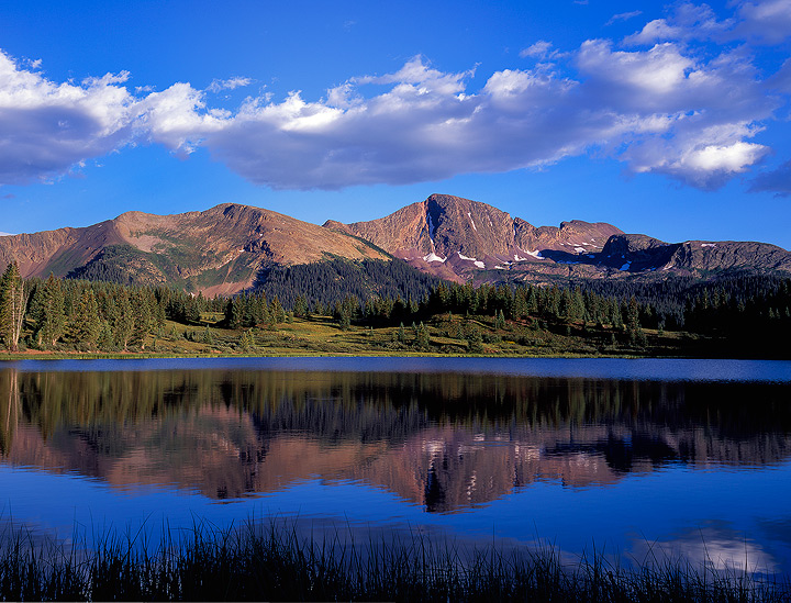 alpine,mountains,Colorado,San Juan Mountains,4x5,reflection,blue,lake, photo