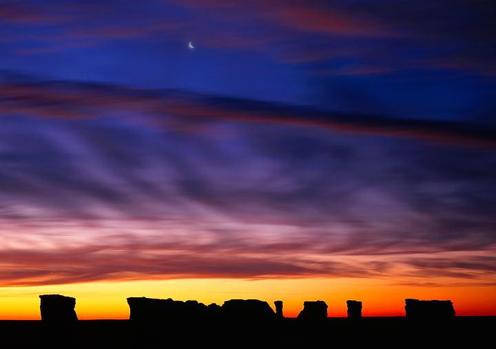 sunrise,monument rocks,Kansas             , photo